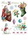Gelová razítka - sada Vánoce Merry Christmas 15x20 cm