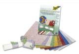 Metalizované papíry - brokát - 10ks 23x33cm, mix barev
