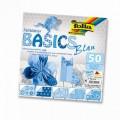 Papíry na skládání Origami - modré 50 listů 15x15 cm