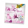Papíry na skládání Origami - růžové 50 listů 15x15 cm