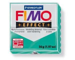 Polymerová hmota fimo 56 g effect - transparentní zelená 504 Staedtler