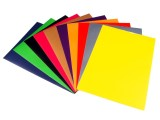 Samolepící barevný papír - 21x29,6cm - sada 10listů mix barev