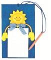 Skládačka zápisník se sluníčkem 19 x 21 cm