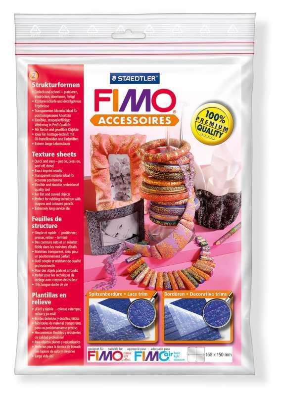 Textury FIMO - strukturovací podložky KRAJKA + OZDOBNÁ BORDURA Staedtler