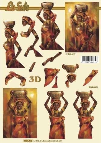 Afrika - 3D papír Le Suh