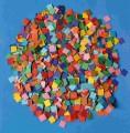 Papírová mozaika 1x1 cm 10.000 kusů
