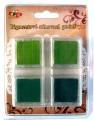 Pigmentové stínovací podušky - zelené