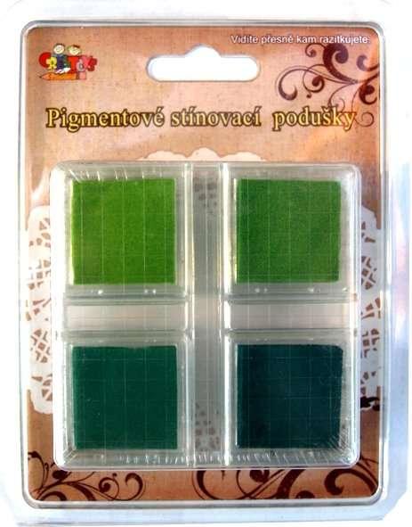 Pigmentové stínovací podušky - zelené ostatní