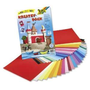 Sada barevných papírů a fotokartonu 23x33 cm 50 archů Folia