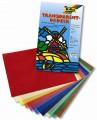Transparent papír - 10 listů v 10 barvách - 42 g/m2