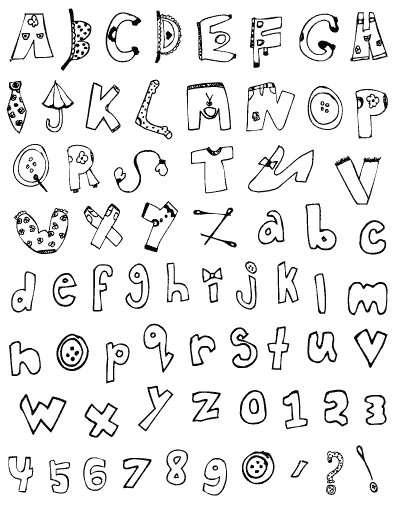 Gelová razítka - sada písmena a číslice OBRÁZKOVÁ ostatní