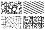 Gelová razítka - textura geometrie/bubliny 15x10 cm