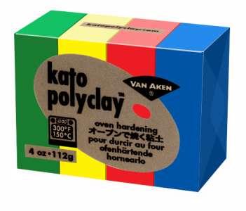 Kato Polyclay - Sada 4 barev - Primary Van Aken