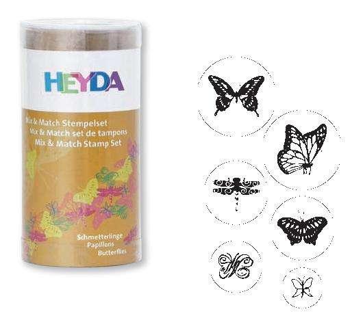 Razítka Motýlci 6 ks HEYDA