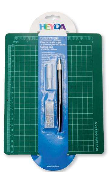 Řezací set - podložka a řezací nůž HEYDA