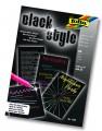Blok černý A5 určený pro gelové tužky 20 listů