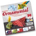 Papíry na skládání Origami - ornamenty 50 listů 20x20 cm