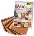 Blok s motivem Basics hnědá 30 archů formátu 24x34 cm