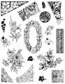 Gelová razítka - sada Květiny - bordury 14x18cm