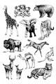 Gelová razítka - sada Zvířata 20x30 cm