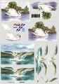 Zvětšit fotografii - Labutě - 3D papír