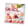 Papíry na skládání Origami - červené 50 listů 15x15 cm