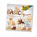 Papíry na skládání Origami - hnědé 50 listů 15x15 cm