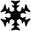 Razidlo - sněhová vločka 2,2 cm