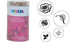 Razítka Růže a listy 5 ks HEYDA