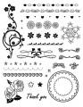 Gelová razítka - sada Bordury a růžky květinové 14x18cm