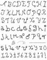 Gelová razítka - sada Písmena a čísla školáka 14x18cm