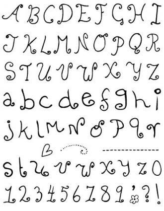 Gelová razítka - sada Písmena a čísla školáka ostatní