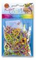 Gumičky Loops - 500ks proužkované barevné mix
