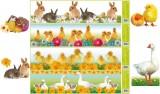 Zvětšit fotografii - Okenní fólie pruh - živá velikonoční zvířátka 64x15cm VÝBĚR VARIANT