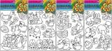 Předlohy na adhézní folii pro barvy na sklo - velikonoční