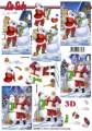 Santa se sněhulákem - 3D papír