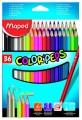 Trojboké pastelky Maped ColorPeps 36ks