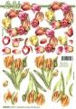 Zvětšit fotografii - Tulipány věnec - 3D papír
