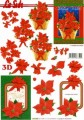Vánoční hvězda - 3D papír