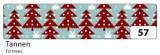 Washi Tape - dekorační lepicí páska - 10mx15mm -vánoční stromky