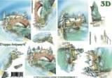 Zvětšit fotografii - 3 D papír - Zimní most