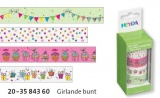 Deco Tape - sada Girlandy zelené 4ks 15mmx5m