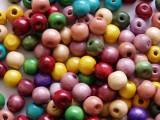 Zvětšit fotografii - Dřevěné korálky 12mm 100ks mix barev