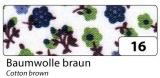 Fabric Tape - dekorační lepicí látková páska - 4m x 15mm bavlna hnědá
