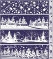 Zvětšit fotografii - Folie okenní - bílá - vánoční krajina 1ks