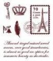 Gelová razítka - Poštovní známka Paříž 7x8,5cm