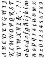 Gelová razítka - sada velké a malé písmena a číslice ozdobná 15x20cm