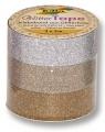 Zvětšit fotografii - Glitter Tape - 3ks dekorační lepicí páska se třpytkami - 5x15mm