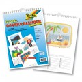 Zvětšit fotografii - Kalendář spirálový k dotvoření - 130 g/m2, DIN A4 - bílý