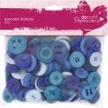 Knoflíky mix (250g) Modré